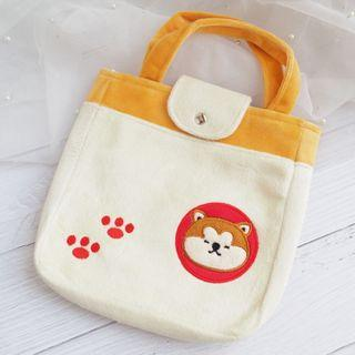 Embroidered Dog Handbag As Shown In Figure - One Size