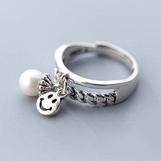 925 Sterling Silver Smiley Face Ring As Shown In Figure - One Size
