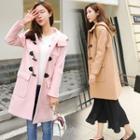 Toggle Plain Hooded Coat