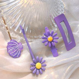 Shell / Flower / Rectangle Hair Clip