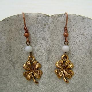 Lucky Leaves Earrings Gold - One Size