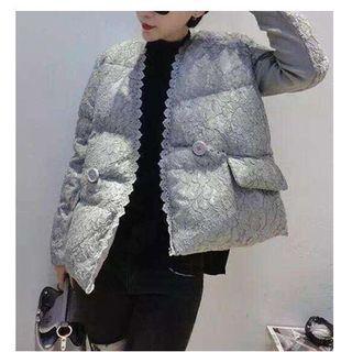 Lace Padded Coat