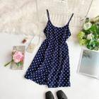 Spaghetti Strap Dotted Playsuit
