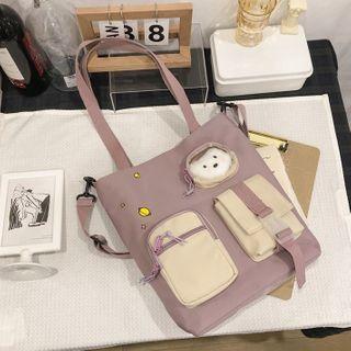 Pvc Panel Canvas Messenger Bag