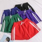 Wide-leg Striped Shorts