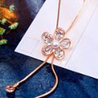 Embellished Flower Necklace