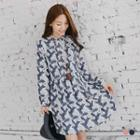 Feather Band Collar Dress