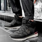 Fleece-lined Faux Leather Sneakers