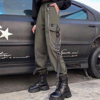 Set: Cargo Jogger Pants + Pant Chain