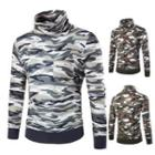 Camouflage Turtleneck Top