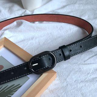Faux Leather Belt Black - 108cm