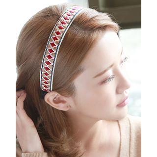 Pattern Embroidered Hair Band