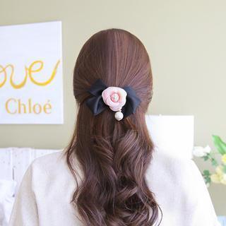 Flower Ribbon Hair Clamp