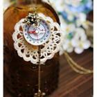 Compass Accent Lace Necklace