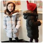 Furry-trim Puffer Hooded Coat