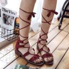 Low Heel Roman Sandals