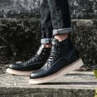Platform Stitched Short Boots
