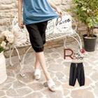 Button-accent Drawstring Cropped Pants