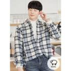 Wool Blend Plaid Flannel Shirt