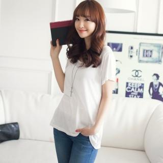Scoop-neck Short-sleeve T-shirt