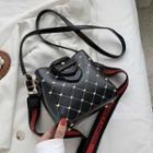 Argyle Stitched Bucket Bag