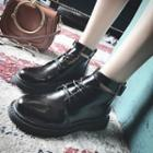 Buckled Ankle-strap Ankle Boots