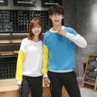 Couple Matching Panel Sweatshirt