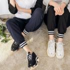Band-hem Baggy-fit Sweatpants
