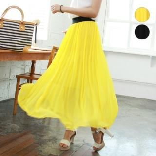 Accordion-pleat Chiffon Skirt