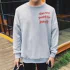 Lettering Drop Shoulder Sweatshirt