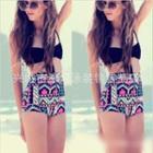 Patterned High-waist Bikini