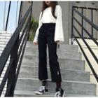 Slit Cropped Jeans