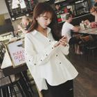Buttoned Sleeve Plain Shirt