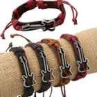 Guitar Genuine Leather Bracelet