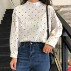 Dotted Blouse Black Dots - White - One Size