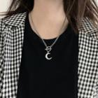 Crescent Necklace Silver - One Size