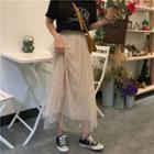 Maxi Mesh Skirt Almond - One Size