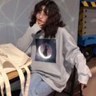 Moon Print Pullover