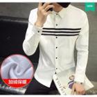 Fleece Lined Striped Shirt