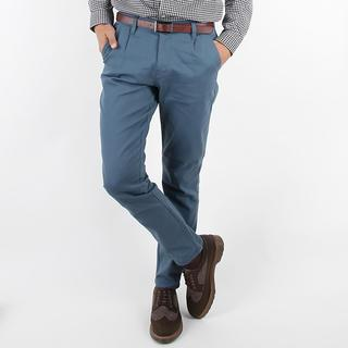 Colored Straight-cut Pants