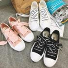 Hollow Lace-up Canvas Sneakers
