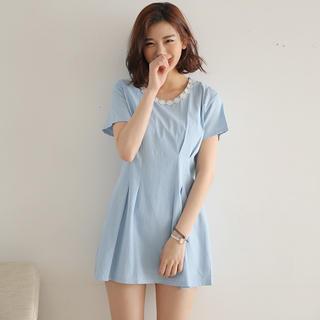 Short-sleeve Denim Dress