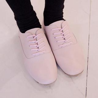 Genuine Leather Lace-up Shoes