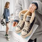 Lace-up High-top Canvas Sneakers