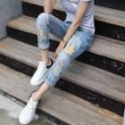 Colored Distressed Jeans