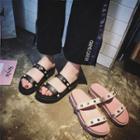 Platform Studded Slide Sandals