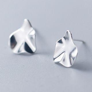 925 Sterling Silver Abstract Disc Earring As Shown In Figure - One Size