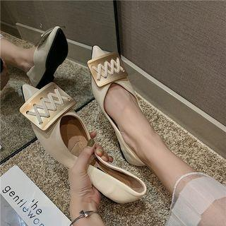Buckled Pointed Flats Flats