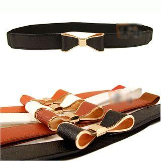 Bow Accent Slim Elastic Belt