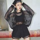 Set: Fishnet Pullover + Fishnet Panel Shorts